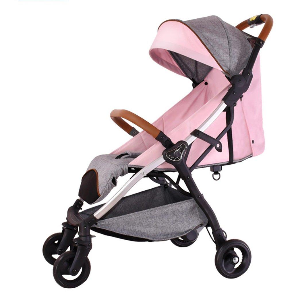赤ちゃんのベビーカーのベビーカーはリクライニング軽量折りたたみ四輪のショックアブソーバのコンボカートに座ることができます (色 : 2#)  2# B07F1KMQWF