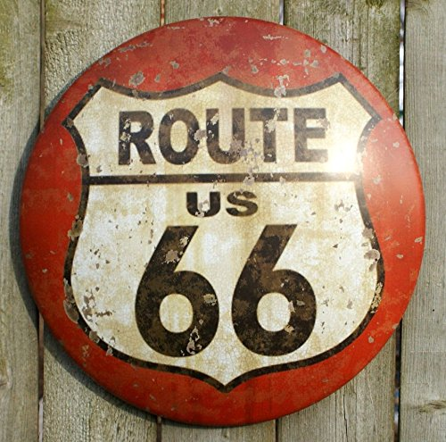 US Route 66 Vintage Road Street - 66 Metal Route Tin Sign