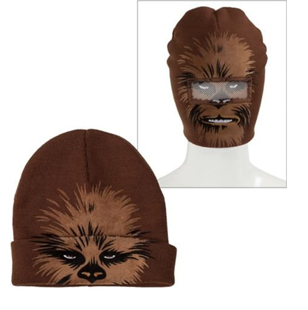 Amazon.com  Chewbacca Roll-down Beanie Hat ~ Adult Size  Clothing 45de26faabe