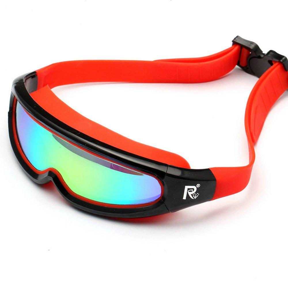 Globaldeal Direct Lentilles de lunettes de natation antibuée pas de fuites protection UV Lunettes de natation, Red