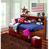 Discovery World Furniture Merlot Bookcase Day Bed Twin With 6 Drawer Storage