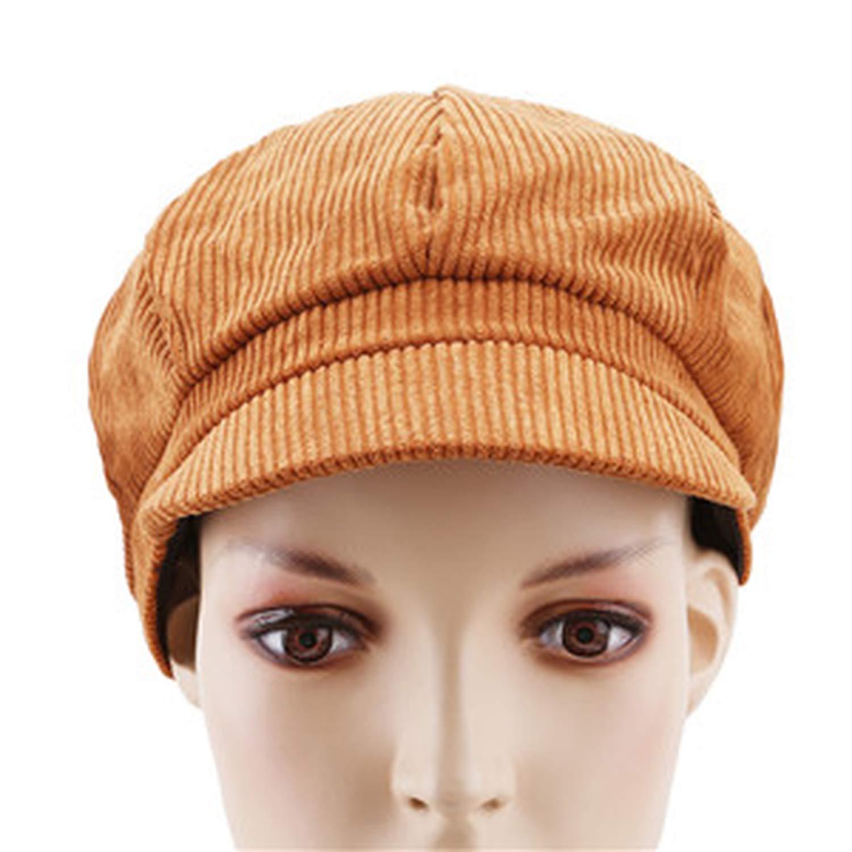 Autumn Winter Women Newsboy Cap Warm Octagonal Painter Hats Vintage Gorras Mujer