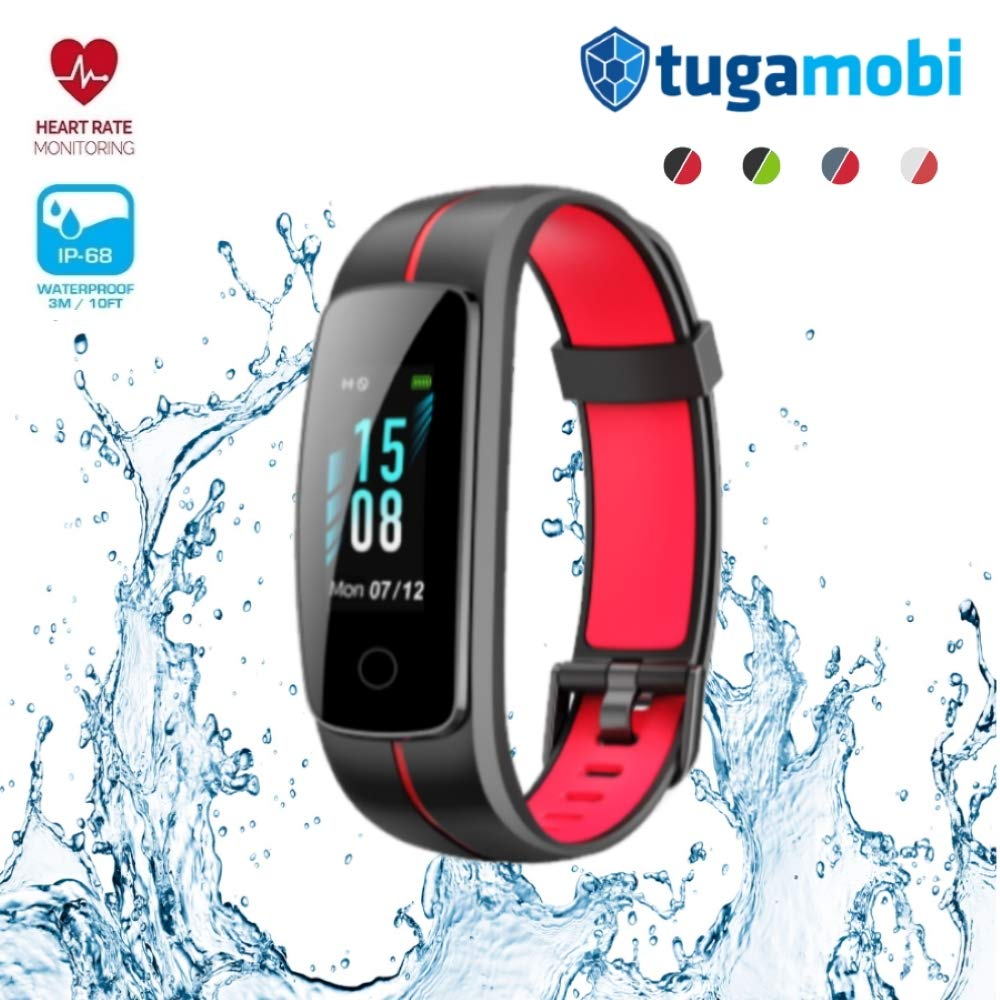 IP68 Waterproof Sleep Monitor Present for Dad Pedometer tugamobi Smart Band SB301 Fitness /& Activity Tracker with Heart Rate Monitor Full Touch Screen