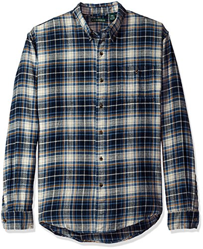 G.H. Bass & Co. Mens Big-Tall Big and Tall Fireside Flannel Plaid Long Sleeve Shirt