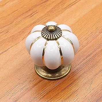 4X4cm SMARTrich 40 /× 40 mm Vintage calabaza colorido cer/ámica pomos puerta tirador armario caj/ón armario tirador Amarillo