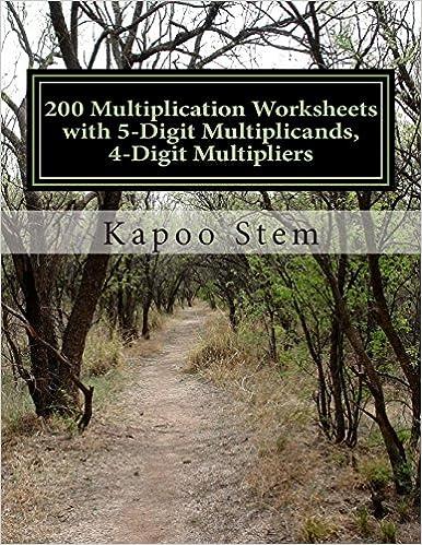 Math Worksheets math worksheets online free : 200 Multiplication Worksheets with 5-Digit Multiplicands, 4-Digit ...