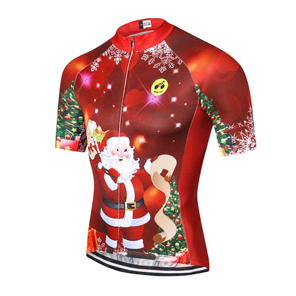 Weimostar SHIRT メンズ B077GTD743 L|Christmas Tree Santa Claus Christmas Tree Santa Claus L