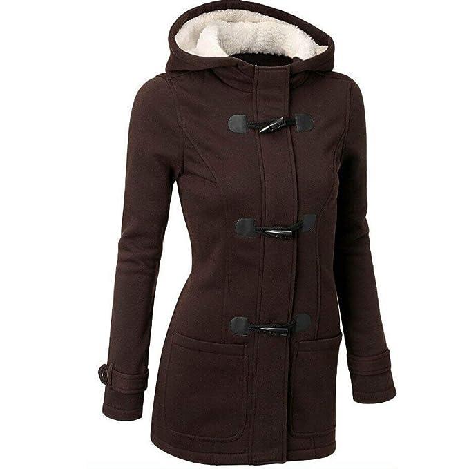 b1fc3e8ff12f0 Abrigos Mujer Invierno Largos Elegantes POLP Delgado sólido Grueso Abrigo  de Cuello Alto Abrigo con Cremallera
