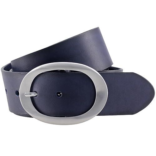 LINDENMANN- Cinturón de cuero de mujer / cinturón de las señoras el arte de la cinturón, marina, 400...