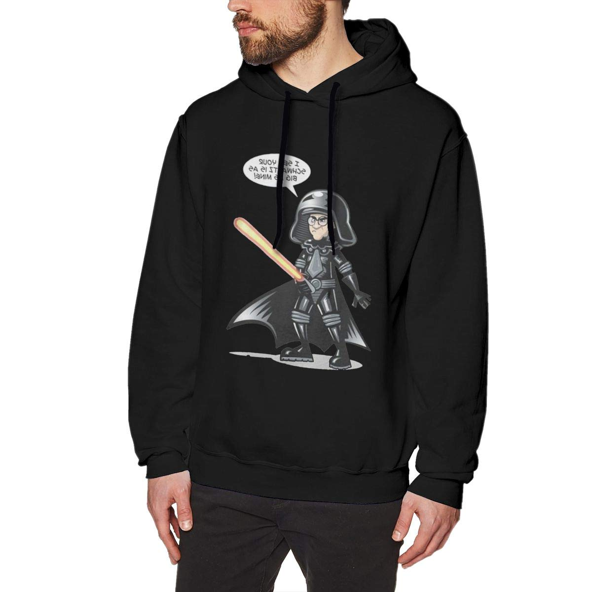 Mens Hooded Sweatshirt Spaceballs The Vermin The Fanart Oversized Classic Print Casual Black L