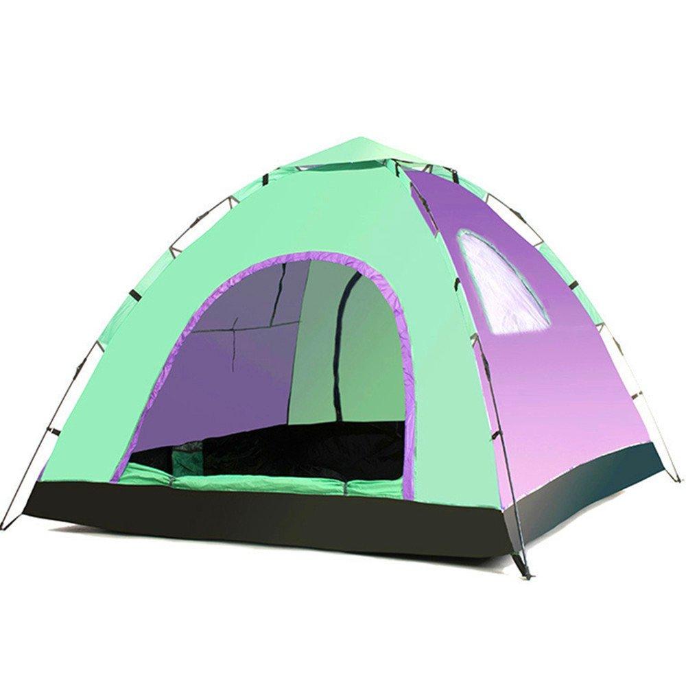 TLMY Zelt 3-4 Personen Automatische Camping Camping Reise Strand Sommer UV 2 Türen 2 Seite Windows 1 Skylight Zelte