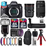Canon EOS 6D DSLR Camera + Canon EF 24-70mm 2.8L II USM Lens + Canon 75-300mm Lens + Pro Flash + Battery Grip + 6PC Graduated Color Filer Set + 2yr Extended Warranty + 32GB - International Version