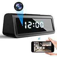 DEXILIO 4K WiFi Spy Clock Camera, Wireless Small Covert Nanny Cam with Night Vision and Motion Detection,Hidden Mini…