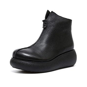 YAN Zapatos de Plataforma para Mujer Tacón de cuña Alta Botines con Cremallera Plataforma Zapatos de Fiesta Negros Zapatos de Fiesta y de Noche: Amazon.es: ...