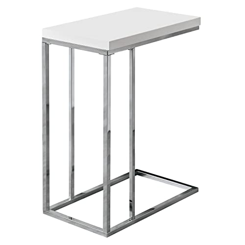 modern side tables for living room wooden monarch specialties 3008 accent table chrome metal glossy white modern side tables living room amazoncom