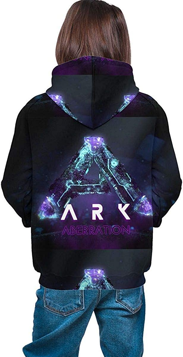 Meethee Sweat /à Capuche Jeunesse ARK Survival Evolved Teen Long Sleeve Hooded Sweatshirt for Boys and Girls