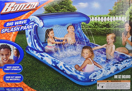 Banzai Big Wave Splash Park Inflatable (Big Splash Water Park)