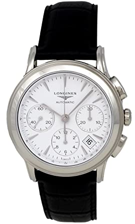 f4cddf8530666 Longines Flagship Automatic Chronograph Steel Mens Luxury Strap Watch  Calendar L4.803.4.12.2  Amazon.co.uk  Watches