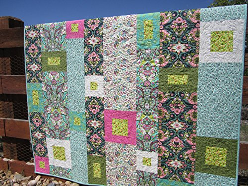 Handmade Patchwork Quilt, Modern Quilt, Boho Quilt, Cotton, Homemade Quilt