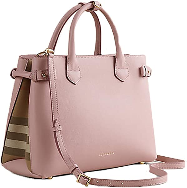 77c0ec7711 Tote Bag Handbag Burberry Medium Banner House Check PALE ORCHID Item  39970621: Handbags: Amazon.com