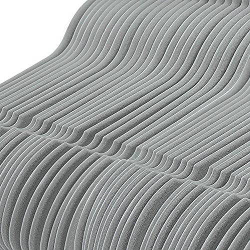 VEEYOO Premium Velvet Suit Hangers - Set of 50 Heavy Duty, Ultra Thin, Non Slip & Space Saving Clothes Hangers - 360 Degree Chrome Swivel Hook Velvet Hangers Coat Suit Shirt Dress Pants - Grey