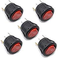 willwin 10pcs KCD1–105rojo lámpara con iluminación 3Terminal SPST