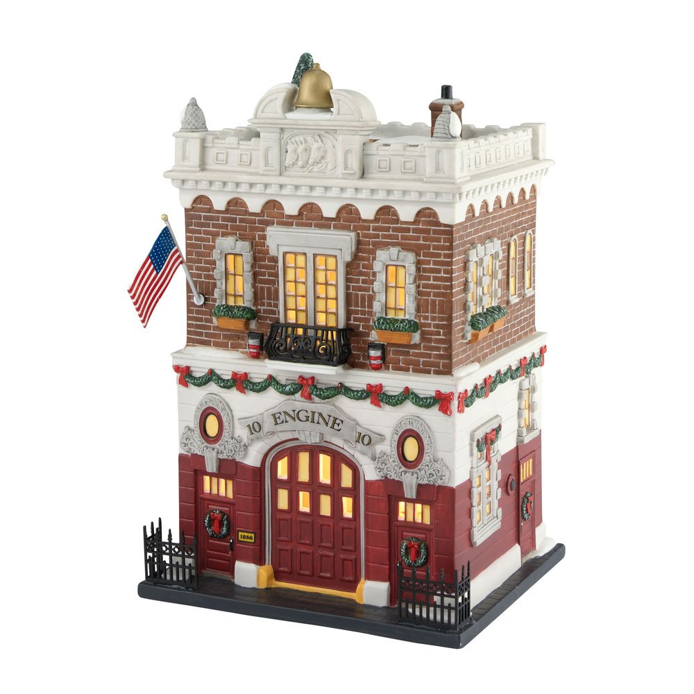 Department 56 Christmas in the City Village Engine Company 10 Lit Building