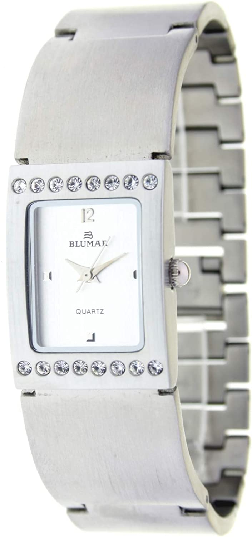Blumar Bl-09670 Reloj Analogico para Mujer Caja De Metal Esfera Color Plateado