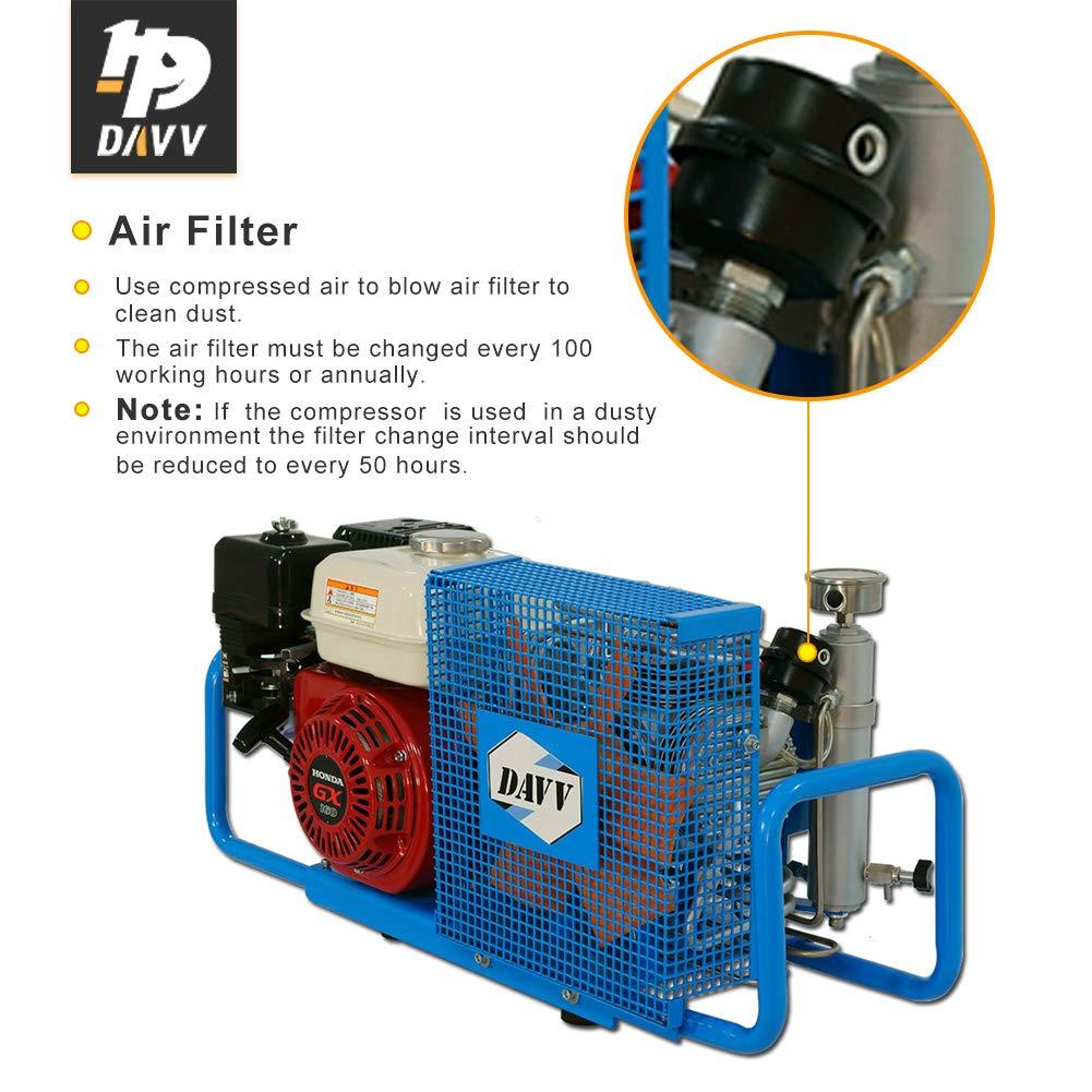 Compresor de aire DAVV 100L/Min 5.5-HP a gas 4500psi gasolina unidad estación de llenado de aire, SCU100P: Amazon.es: Bricolaje y herramientas