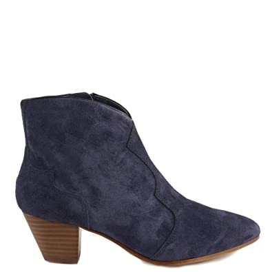 48593e093f56 Ash Footwear Hurrican Navy Suede Ankle Boot 41EU 8UK Navy  Amazon.co ...