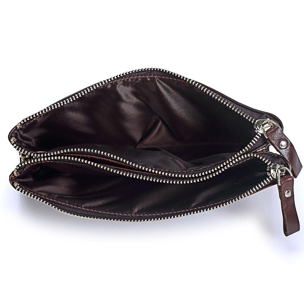 Leather mens wallet Multi-function zipper long clutch