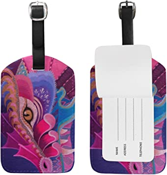 2 Pack Luggage Tags Dragon Pattern Cruise Luggage Tag For Travel Tags Accessories
