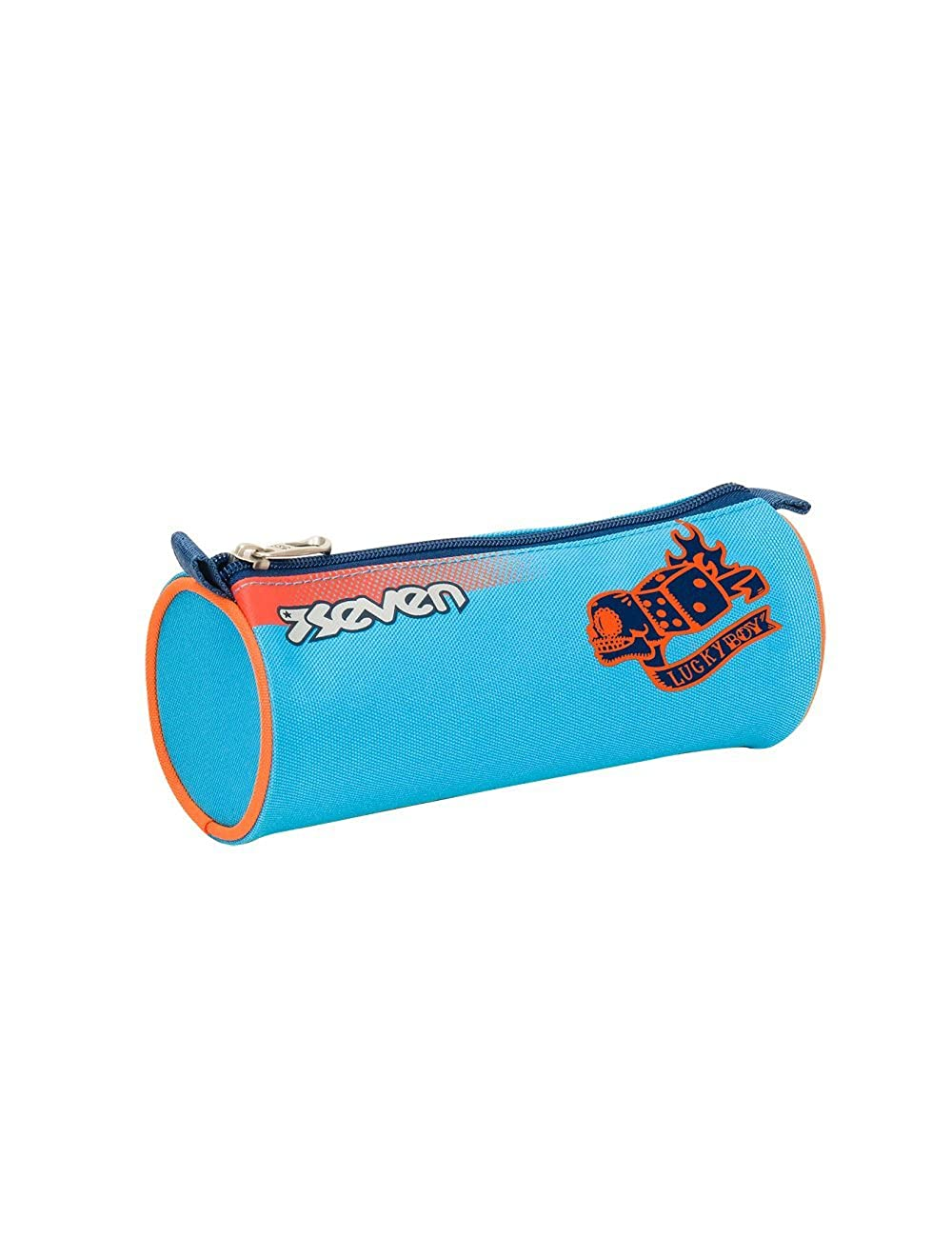 COLOR BOY Blue Orange School Pencil Bag SEVEN