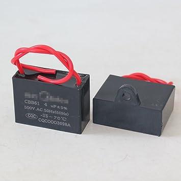 GAOHOU CBB61 500v Kondensator 2 Drähte 50/60Hz 1-4UF für ...