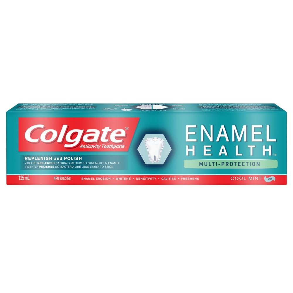 Colgate Enamel Health Multi-Protection Fluoride Toothpaste - Cool Mint Gel Formula (125 mL, Pack of 1) Colgate-Palmolive CA