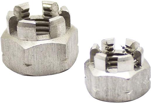 Tuercas Hexagonales, Dering Corona tuercas DIN 935/Acero Inoxidable A2