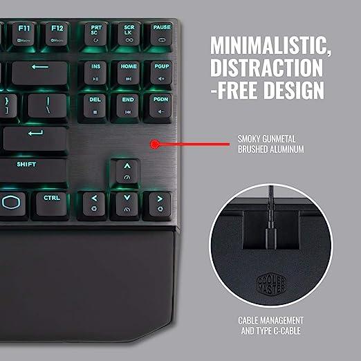 Cooler Master masterkeys MK730 GAMING MX, teclado, Rojo
