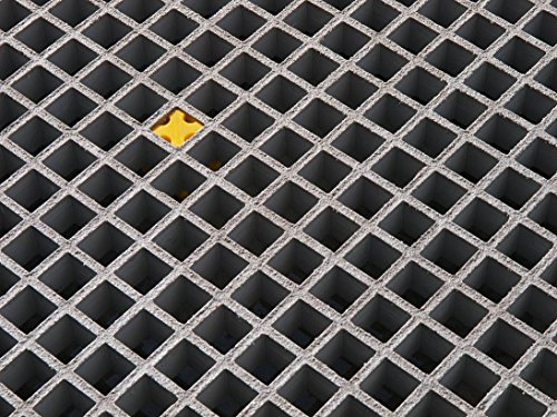 FRP Grating,Fiberglass molded grating mesh, grating panel, 4'x4', 1'' thickness, sanded anti-slip surface by Wellco Industries Inc.