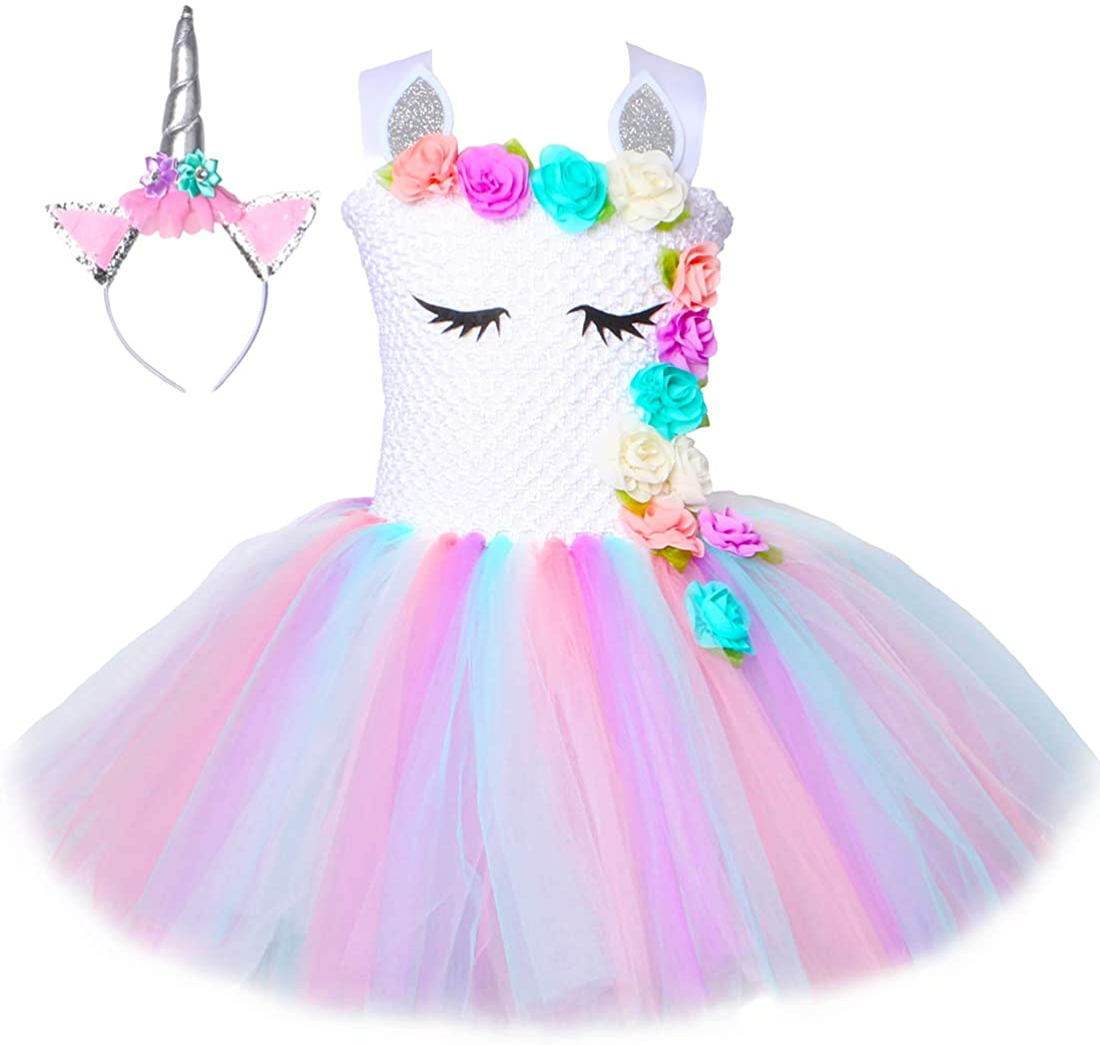sizes newborn up to 5T Made with 9 Vibrant Colors Imagine Custom Sewn 10 Tutu A Magical Rainbow Birthday Tutu