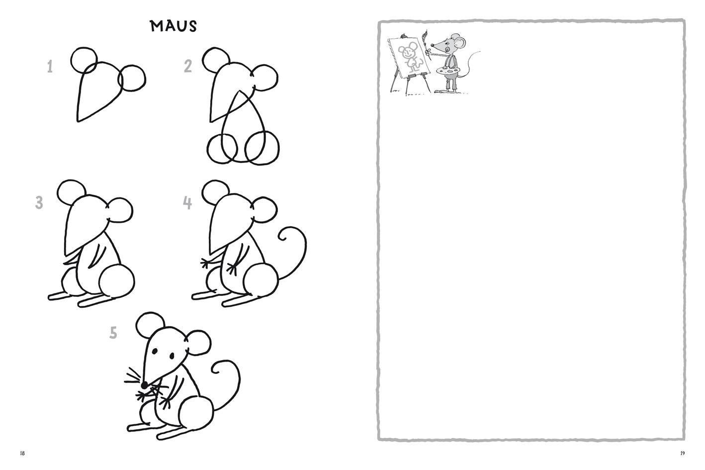Tiere Zeichnen Schritt Für Schritt Zeichnen Lernen Ab 4