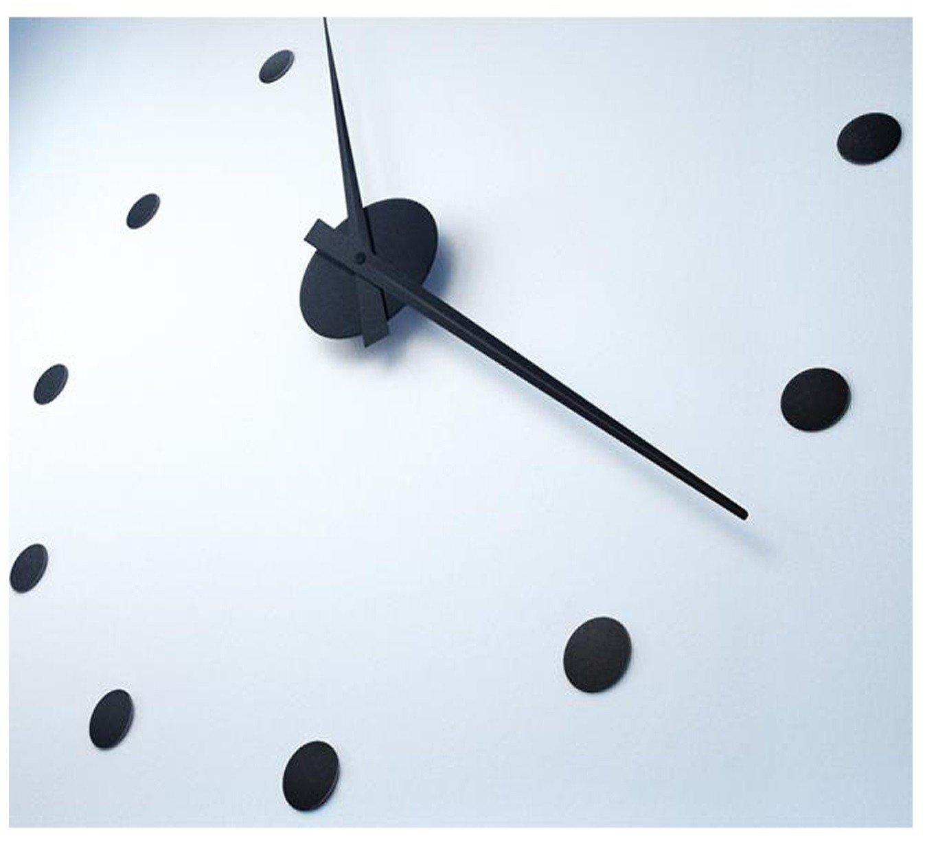 Radius Design - Wanduhr - Aluminium - Edelstahl - schwarz