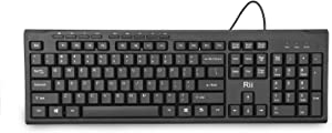 Rii RK907 Ultra-Slim Compact USB Wired Keyboard for Mac and PC,Windows 10/8 / 7 / Vista/XP (Black)