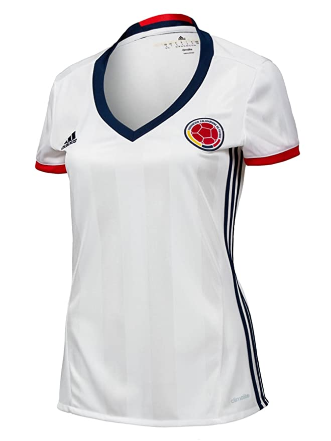 99758aac3b4 Amazon.com   adidas Colombia Home Women s Soccer Jersey Copa America  Centenario 201   Sports   Outdoors