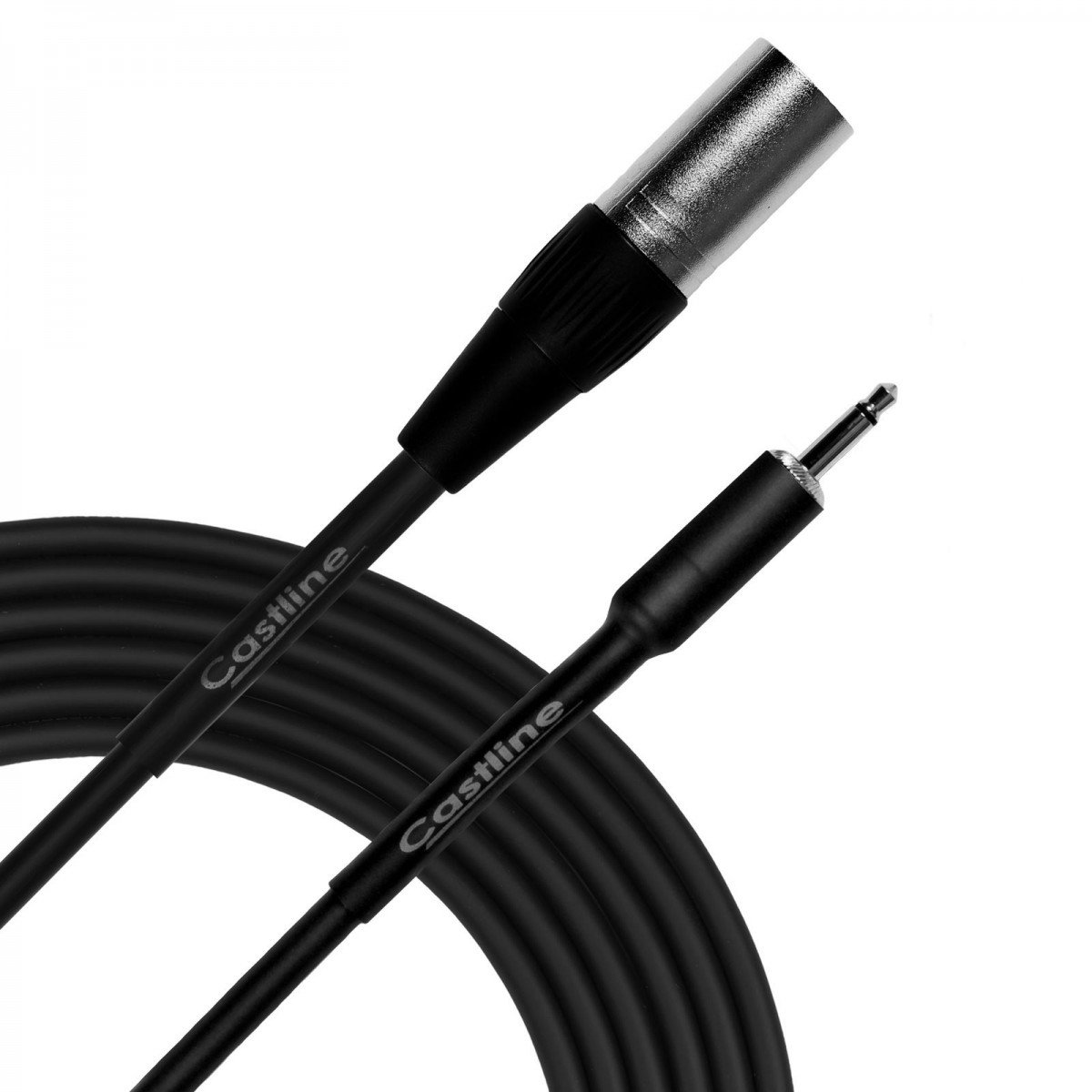 Amazon.com: 1 Ft Castline Silver XLR male to 3.5mm TS Patch ... on xlr jack wiring diagram, xlr to 1 4, xlr to tt, xlr to pc,