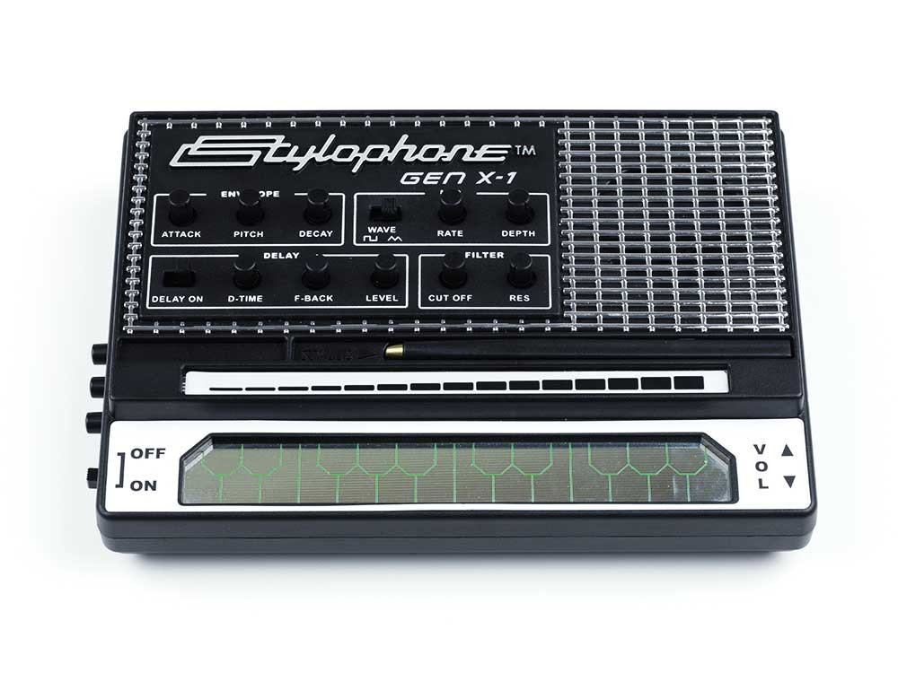 STYLOPHONE GEN X-1 Portable Analog Synthesizer: with Built-in Speaker, Keyboard and Soundstrip, LFO, Low pass filter, Envelope, Sub-octaves & Delay by Stylophone