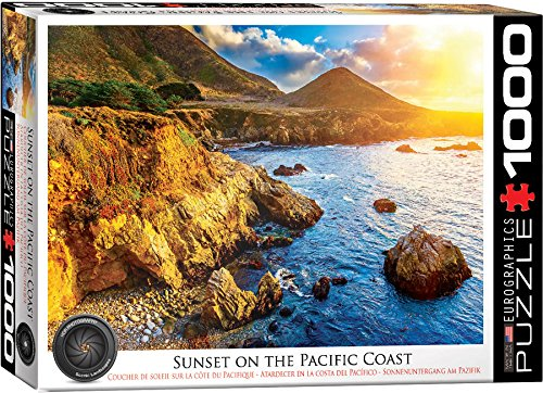 EuroGraphics Sunset on The Pacific Jigsaw Puzzle (Big Sur Collection)