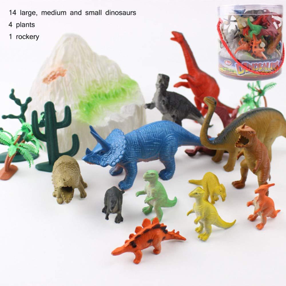 SEJNGF Dinosaurio Infantil Juguetes Educativos para Niños Cognitivos Tiranos Modelo Dragón,Multi-Colored-in