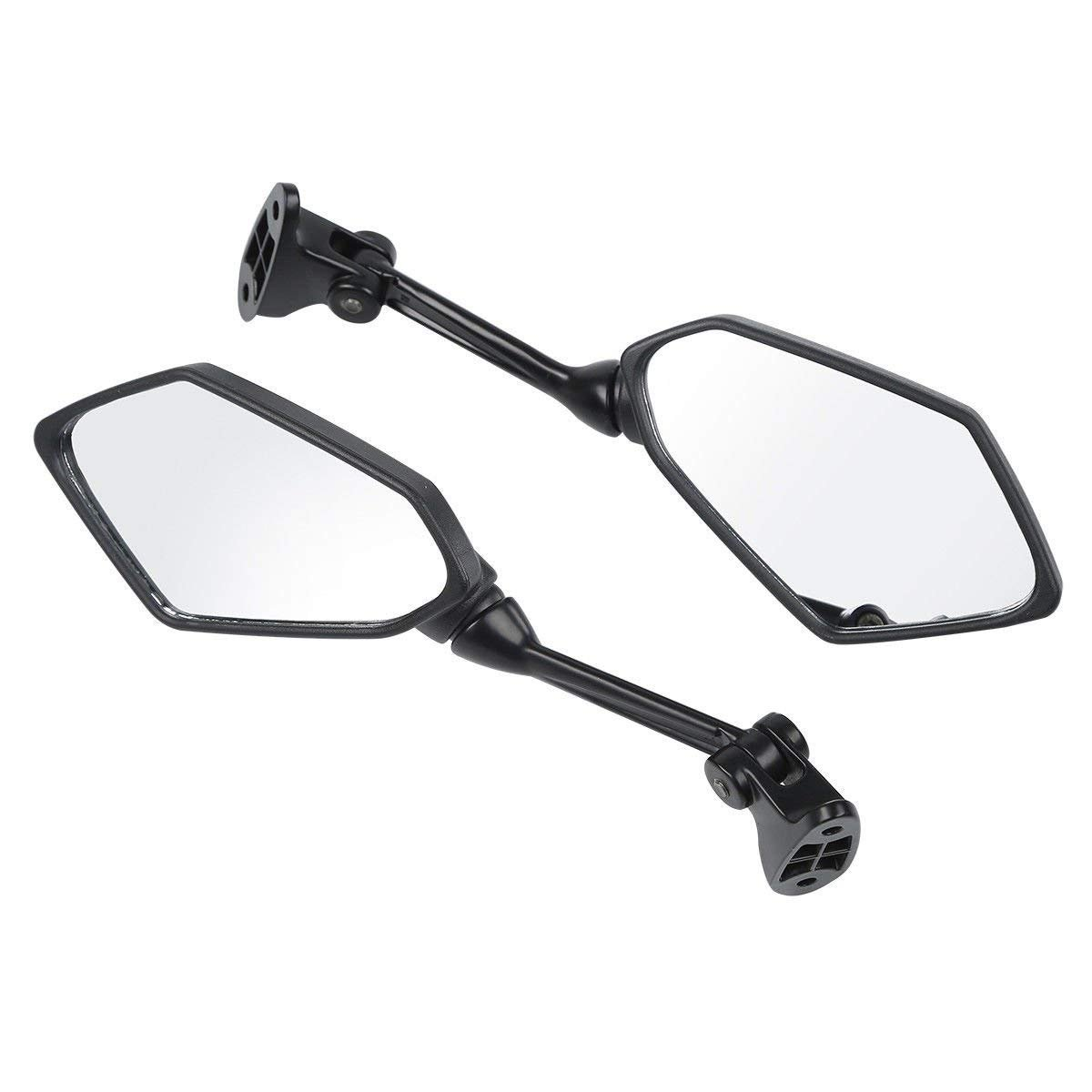 MZS Motorcycle Mirrors Rear View compatible Kawasaki Ninja ZX6R ZX-6R ZX600P ZX600R 2009 2010 2011 2012 Ninja ZX6R ZX-6R ZX600P ZX600R Mirrors Black