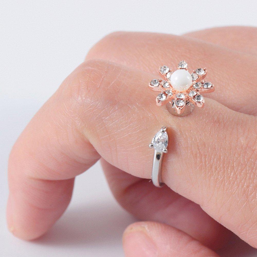 Amazon.com: WELCOMEUNI Rotating Ring Flower Shape High Speed ...