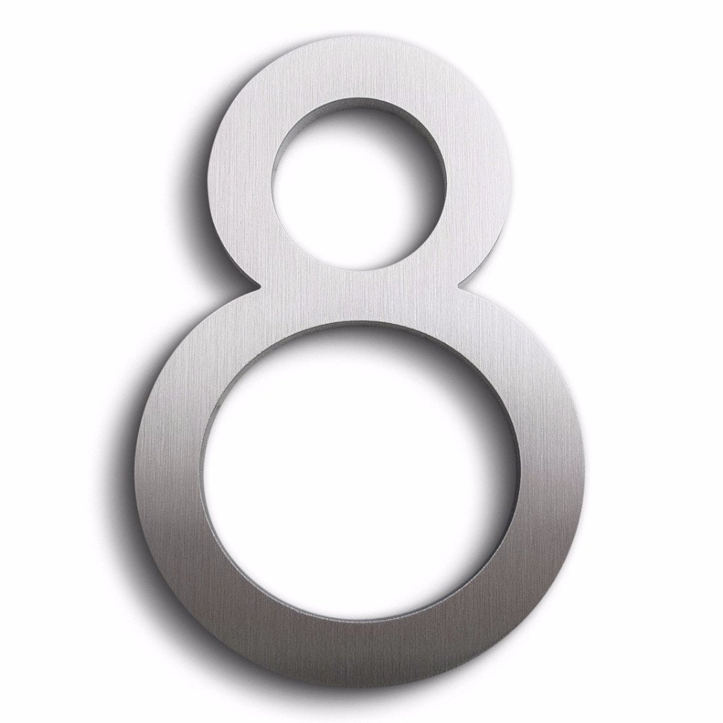 Modern house number aluminum modern font number 8 address plaques amazon com